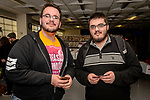 WATERBURY, CT. 22 April 2018-042218BS21 - From left, Julian Rivera and David Pedro both from WATERBURY pose for a photo during the Brass City Comic-Con at Naugatuck Valley Community College on Sunday afternoon. Bill Shettle Republican-American