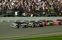 Dale Earnhardt leads Mark Martin, Jeff Gordon and Dale Earnhardt,Jr..NASCAR Winston Cup Budweiser Shootout  11 Feb.2001 Daytona International Speedway, Daytona Beach,Florida,USA .copyright©F.Peirce Williams 2001 ..F. Peirce Williams .photography.P.O.Box 455 Eaton, OH 45320.p: 317.358.7326  e: fpwp@mac.com.