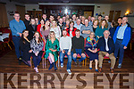 Paudie O'Shea from Curaheen and Rebecca Horgan from Tralee heading to Australia on Saturday next, enjoying a bon voyage party in the Kerins O'Rahillys clubhouse on Saturday night.  <br /> Seated l to r: Sharon and Paudie O'Shea, Rebecca Horgan, Nelius O'Shea, Eileen and Pat Hourigan.