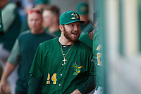 Beloit Snappers Payton Squier (24) during a Midwest League game against the Lansing Lugnuts at Cooley Law School Stadium on May 4, 2019 in Lansing, Michigan. Beloit defeated Lansing 2-1. (Zachary Lucy/Four Seam Images)