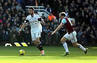 Pictured: Jordi Amat of Swansea. 01 February 2014<br /> Re: Barclay's Premier League, West Ham United v Swansea City FC at Boleyn Ground, London.