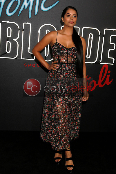 """Lilly Singh<br /> at the """"Atomic  Blonde"""" Premiere, Theater at the Ace Hotel, Los Angeles, CA 07-24-17<br /> David Edwards/DailyCeleb.com 818-249-4998"""