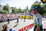 Mark Cavendish (GER) Team Dimension Data at sign on before Stage 3 of the Deutschland Tour 2019, running 189km from Gottingen to Eisenach, Germany. 31st August 2019.<br /> Picture: ASO/Marcel Hilger | Cyclefile<br /> All photos usage must carry mandatory copyright credit (© Cyclefile | ASO/Marcel Hilger)