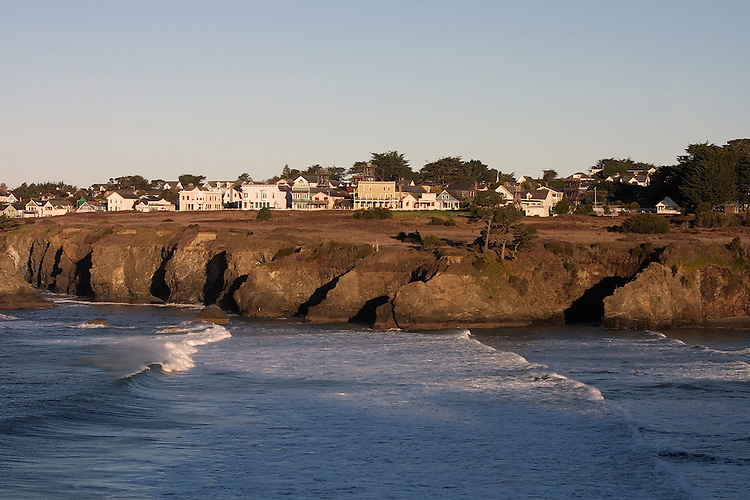 The Pacific Coastal village of Mendocino in Northern California