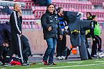 S&ouml;dert&auml;lje 2013-10-06 Fotboll Allsvenskan Syrianska FC - IF Elfsborg :  <br /> Syrianska manager tr&auml;nare &Ouml;zcan Melkemichel ser glad ut under matchen<br /> (Foto: Kenta J&ouml;nsson) Nyckelord:  portr&auml;tt portrait glad gl&auml;dje lycka leende ler le