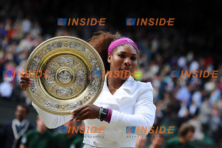 Serena Williams (USA) .Wimbledon ( Londra ) 7/7/2012 Tennis.Grande Slam Finale Donne.Foto Insidefoto / Panoramic.ITALY ONLY