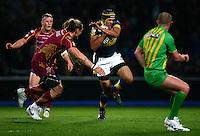 PICTURE BY VAUGHN RIDLEY/SWPIX.COM - Rugby League - Super League - Leeds Rhinos v Huddersfield Giants - Headingley, Leeds, England - 30/03/12 - Leeds Ben Jones-Bishop.