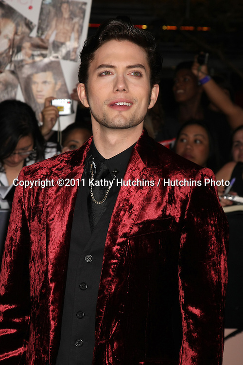 "LOS ANGELES - NOV 14:  Jackson Rathbone arrives at the ""Twilight: Breaking Dawn Part 1"" World Premiere at Nokia Theater at LA LIve on November 14, 2011 in Los Angeles, CA"