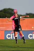 Becky Edwards (14) of the Western New York Flash. The Western New York Flash defeated Sky Blue FC 2-0 during a Women's Professional Soccer (WPS) match at Yurcak Field in Piscataway, NJ, on July 17, 2011.