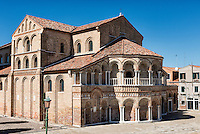 The Church of Santa Maria e San Donato in Murano, Venice, Veneto, Italy Venitian island of Murano, Italy.