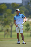 Keita NAKAJIMA (JPN) looks over his putt on 9 during Rd 1 of the Asia-Pacific Amateur Championship, Sentosa Golf Club, Singapore. 10/4/2018.<br /> Picture: Golffile | Ken Murray<br /> <br /> <br /> All photo usage must carry mandatory copyright credit (&copy; Golffile | Ken Murray)