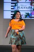SÃO PAULO, SP, 24.07.2016 - MODA-SP - Desfile da marca Maria Abacaxita durante o 14 Fashion Weekend Plus Size que acontece neste domingo, 24 no Centro de Convenções Frei Caneca.(Foto: Ciça Neder/Brazil Photo Press)