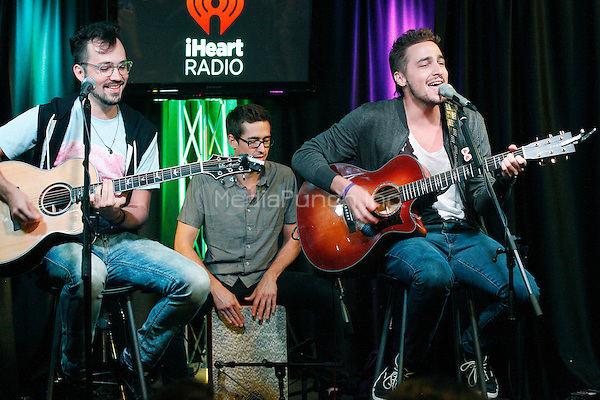 BALA CYNWYD PA - JULY 14 :  Kendall Schmidt and Heffron Drive visit Q102 performance studio in Bala Cynwyd, Pa on July 14, 2014  photo credit Star Shooter / MediaPunch