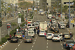 Israel-drivers stand at attention as the sirens blare on Holocaust Remembrance Day