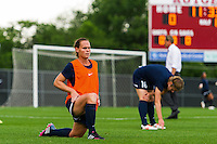 Sky Blue FC defender Christie Rampone (3) during warmups prior to playing FC Kansas City . Sky Blue FC and FC Kansas City played to a 2-2 tie during a National Women's Soccer League (NWSL) match at Yurcak Field in Piscataway, NJ, on June 26, 2013.