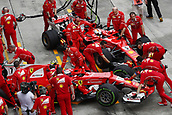 29th September 2017, Sepang, Malaysia;  Motorsports: FIA Formula One World Championship 2017, Grand Prix of Malaysia, <br /> #7 Kimi Raikkonen (FIN, Scuderia Ferrari), #5 Sebastian Vettel (GER, Scuderia Ferrari)