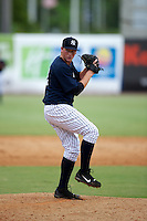 GCL Yankees Caleb Frare #18 during a Gulf Coast League game against the GCL Phillies at Legends Field on July 17, 2012 in Tampa, Florida.  GCL Phillies defeated the GCL Yankees 4-2.  (Mike Janes/Four Seam Images)