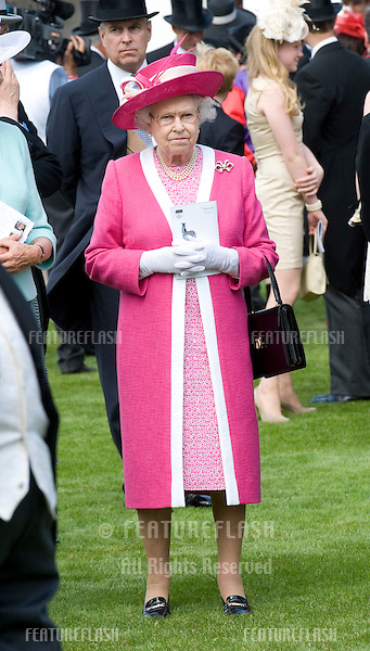 HM Queen Elizabeth II attending The Epsom Derby Meeting at Epsom Downs Racecourse in Surrey..4th June 2011.  05/06/2011  Picture by: Simon Burchell / Featureflash.