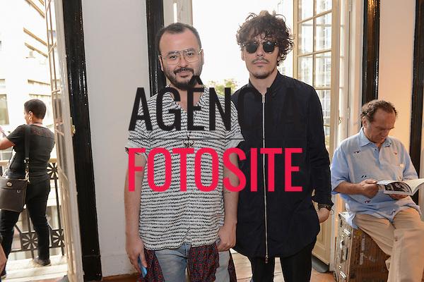 Jorge Wakabara e Eduardo <br /> <br /> Isabela Capeto<br /> <br /> S&atilde;o Paulo Fashion Week- Ver&atilde;o 2016<br /> Abril/2015<br /> <br /> foto: Gabriel Cappelletti/ Ag&ecirc;ncia Fotosite