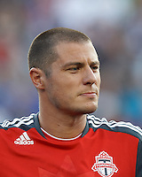 Toronto FC forward Danny Koevermans (14). In a Major League Soccer (MLS) match, Toronto FC defeated New England Revolution, 1-0, at Gillette Stadium on July 14, 2012.