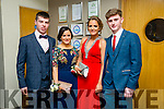 David Long, Sinead Brosnan, Jerry O'Brien and Jack McCarthy at the CBS The Green Students' Debs Ball at the Ballyroe Heights Hotel on Saturday night