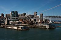 aerial photograph piers, Bay Bridge, San Francisco, California