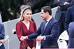 President of Andalusia Juan Manuel Moreno Bonilla and his wife Manuela Villena  during the Military parade because of the Spanish National Holiday. October 12, 2019.. (ALTERPHOTOS/ Francis Gonzalez)