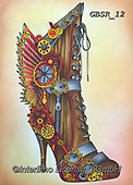 Sandra, STILL LIFE STILLEBEN, NATURALEZA MORTA, paintings+++++steampunk boot,GBSR12,#I#, EVERYDAY