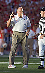 MADISON, WI - SEPTEMBER 25: Head coach Barry Alvarez of the Wisconsin Badgers against the Penn State Nittany Lions at Camp Randall Stadium in Madison, Wisconsin on September 25, 2004. The Badgers beat the Nittany Lions 16-3. (Photo by David Stluka)