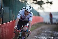 race leader Mathieu Van der Poel (NLD/BKCP-Corendon)<br /> <br /> UCI Cyclocross World Cup Heusden-Zolder 2015