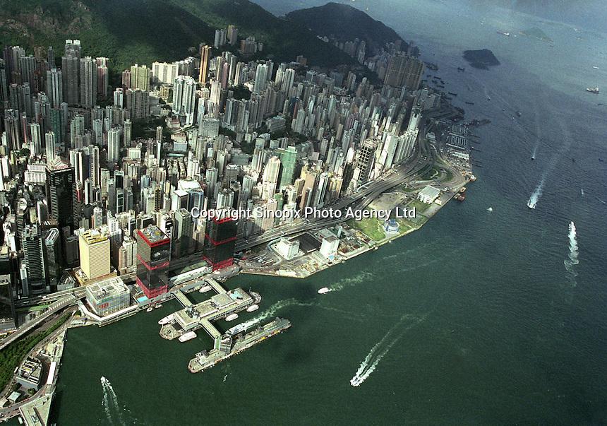 Overview of Hong Kong Island in Hong Kong.