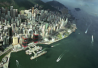 Overview of Hong Kong Island in Hong Kong.