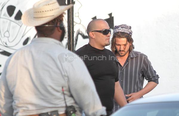 "Diego Luna seen leaving ¨La Campechana¨ in *Hermosillo while on location for his next film ""César Chávez Fight in the Field"". Sonora, Mexico*. June 1, 2012. Photo: Tirador Primero/NortePhoto/MediaPunch Inc. ***NO SPAIN*** ***NO MEXICO***"