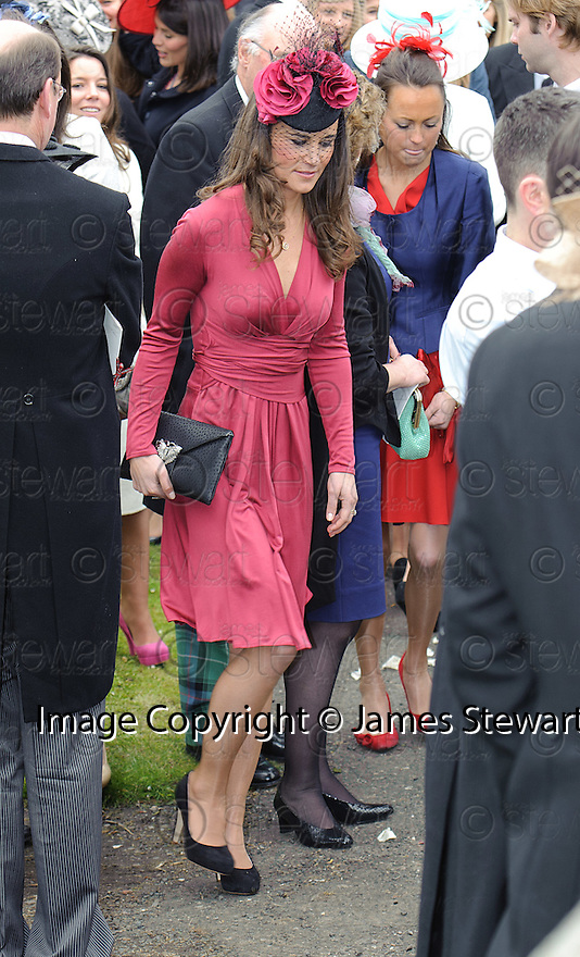 Pippa Middleton leaves Aberlady Church after seeing her friend Camilla Hook marry Sam Holland, grandson of Lord Attenborough  .......