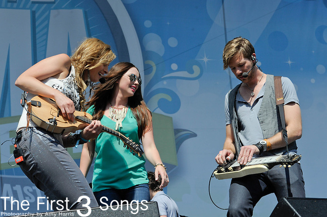 Edens Edge performs at the Riverfront Stage during the 2012 CMA Music Festival in Nashville, Tennessee.