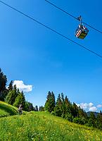Austria, Tyrol, Westendorf (Tyrol): Alpenrose cable car above hiking village Westendorf at Brixen Valley | Oesterreich, Tirol, Westendorf (Tirol): Alpenrosenbahn oberhalb Wanderdorf Westendorf im Brixental