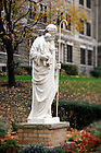 Nov. 14, 2011; St. Joseph statue outside Columba Hall..Photo by Matt Cashore/University of Notre Dame