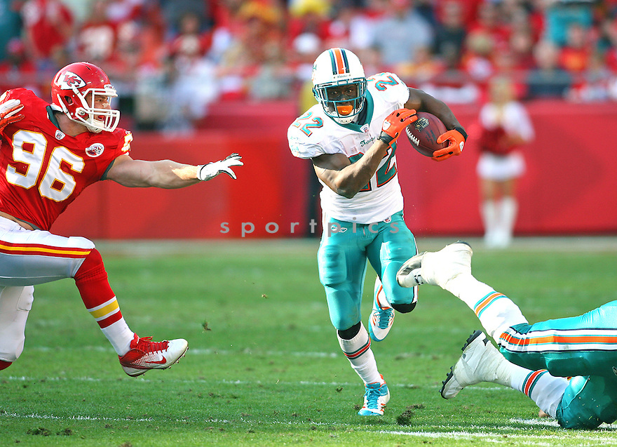 REGGIE BUSH, of the Miami Dolphins, in action during the Dolphins game against the Kansas City Chiefs, on November 6, 2011 at Arrowhead Stadium in Kansas City, MO. The Dolphins beat the Chiefs 31-3.