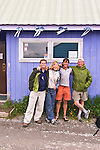 High on the slopes of 26,000 foot Mount Manaslu in Nepal, Scott Darsney and myself, concocted a plan to make a first ski descent of a volcanic peak in the Aleutian Islands far out in the Bering Sea. This is how the four of us ended up in front of the world famous Elbow Room bar in Ductch Harbor, Alaska.