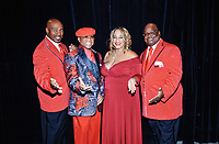 """05 October 2019 - Hamilton, Ontario, Canada.  The Platters with original lead singer Sonny Turner backstage at """"What A Night - Living Legends"""" at the FirstOntario Concert Hall.  Photo Credit: Brent Perniac/AdMedia"""