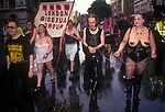 Sexual Freedom March through Soho  London England. London Bisexual Group protesting. 1990S