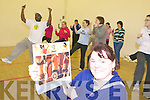 Christine Klein who has set up Zumba Dance Fitness classes with instructor Cedric Mahango in Killorglin Sports Centre on Tuesday evenings