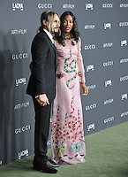 LOS ANGELES, CA. October 29, 2016: Actress Zoe Saldana &amp; artist Marco Perego at the 2016 LACMA Art+Film Gala at the Los Angeles County Museum of Art.<br /> Picture: Paul Smith/Featureflash/SilverHub 0208 004 5359/ 07711 972644 Editors@silverhubmedia.com