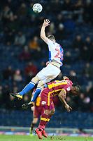 Dom Poleon of Bradford City fouls Darragh Lenihan of Blackburn Rovers during the Sky Bet League 1 match between Blackburn Rovers and Bradford City at Ewood Park, Blackburn, England on 29 March 2018. Photo by Thomas Gadd.