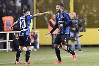 Bergamo 01-10-2017 Stadio Atleti Azzurri d'Italia Football Serie A 2017/2018 Atalanta - Juventus foto Daniele Buffa/Image Sport/Insidefoto <br /> nella foto: esultanza gol Bryan Cristante Goal celebratio 2-2