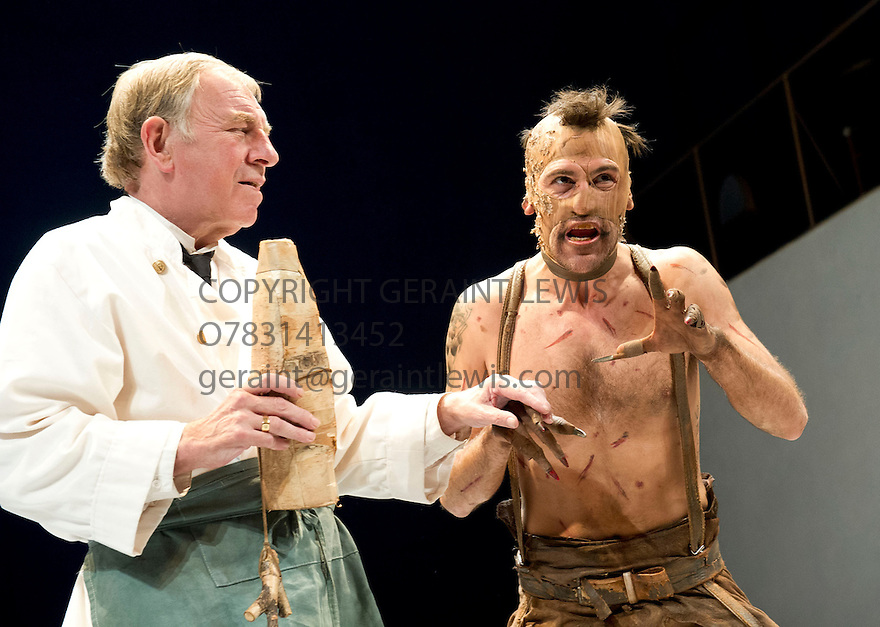 The Tempest by William Shakespeare directed by Adrian Noble With  Geoffrey Freshwater as Stephano, Matt Ryan as Caliban  . Opens at Theatre Royal Bath   on 28/8/12.CREDIT Geraint Lewis