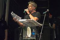RIO DE JANEIRO, RJ, 28.07.2018 - LULA-LIVRE - Fábio Assunssão durante Festival Lula Livre na Lapa, centro do Rio de Janeiro neste sábado, 28. (Foto: Clever Felix/Brazil Photo Press)