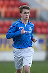 St Johnstone Academy v Manchester United Academy....17.04.15   <br /> Cameron Lumsden<br /> Picture by Graeme Hart.<br /> Copyright Perthshire Picture Agency<br /> Tel: 01738 623350  Mobile: 07990 594431