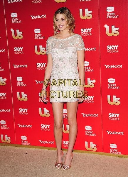 WHITNEY PORT.US Weekly's Hot Hollywood Party 2009 held at Voyeur, West Hollywood, California, USA. .November 18th, 2009.full length dress sheer silver gold shoes pink white beads beaded .CAP/RKE/DVS.©DVS/RockinExposures/Capital Pictures.