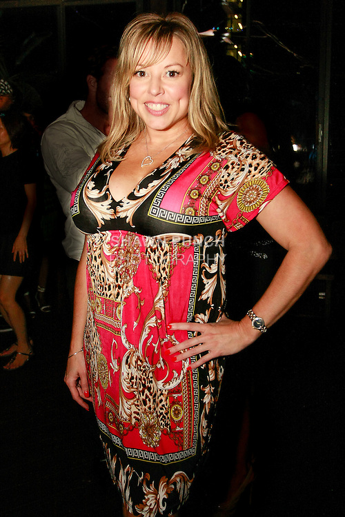 Wendy Gillette, television reporter, anchor and host, attends the LAL Couture collection runway show by Alina Lal, during the Eric Vega Bikini fashion show, at DL Lounge on August 15, 2013.